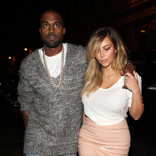 Kim Kardashian and Kanye West in Paris For Fashion Week 2013