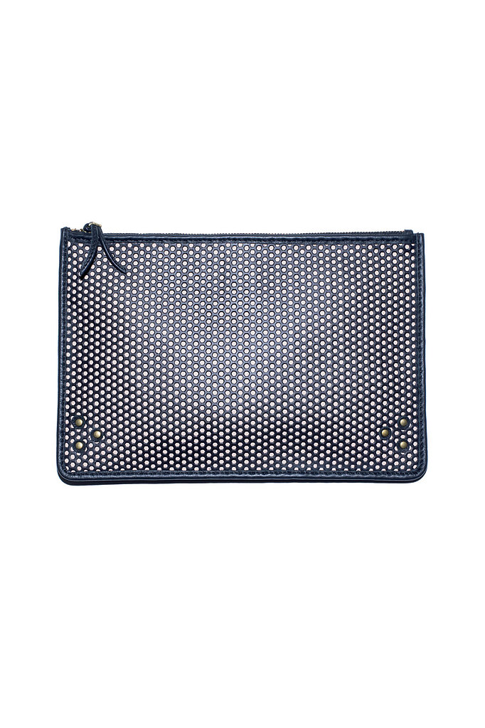 The Large Popoche Clutch in perforated nude calfskin Photo courtesy of Jerome Dreyfuss