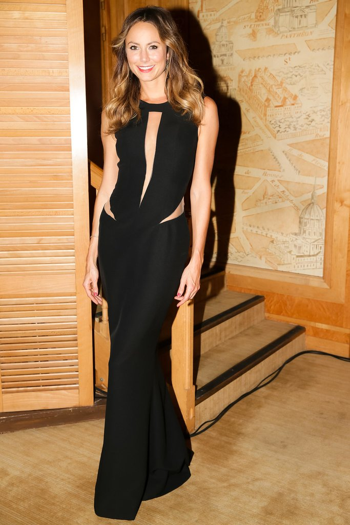 At the Mademoiselle C afterparty in Paris, Stacy Keibler put her sexiest side on display in a black cutout gown.