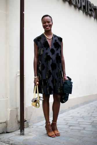 Shala Monroque nailed modern ladylike with cool accents and great jewels.