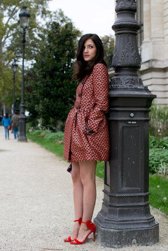 Eleonara Carisi: A sweet printed coat means you don't even need to think about what goes underneath.