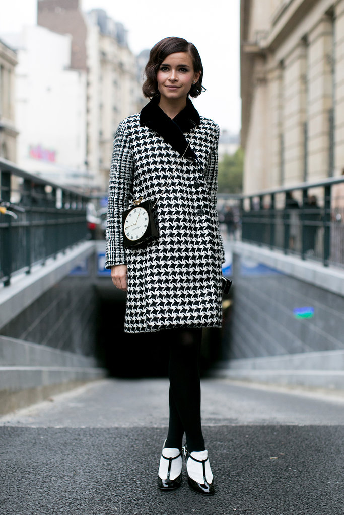 Miroslava Duma may have had the chicest play on black and white yet.