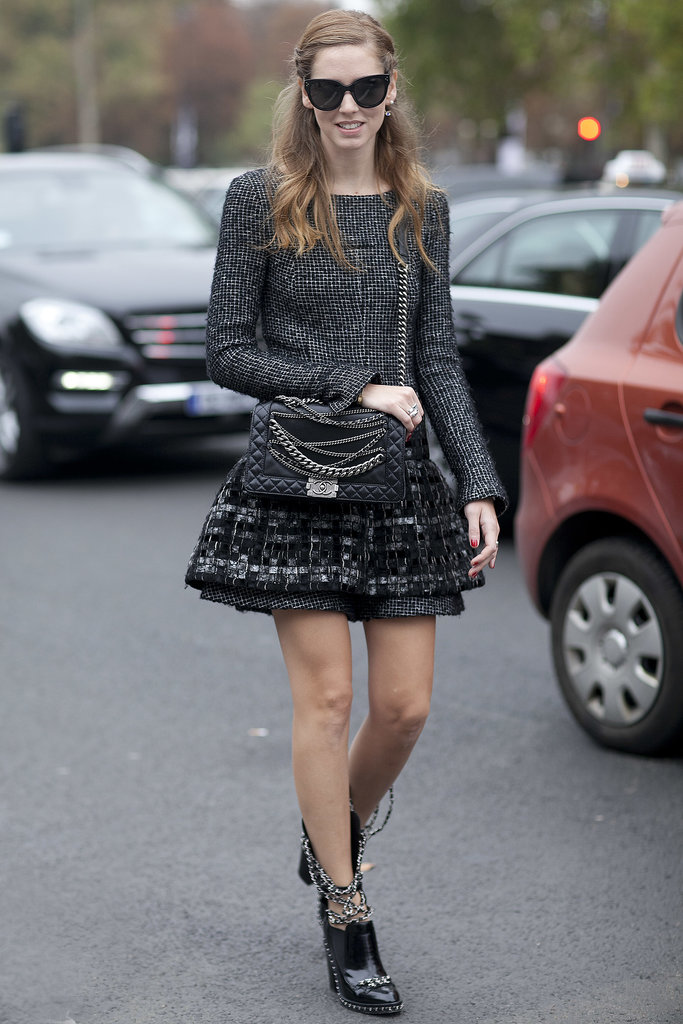 Chiara Ferragni did Chanel with chains.