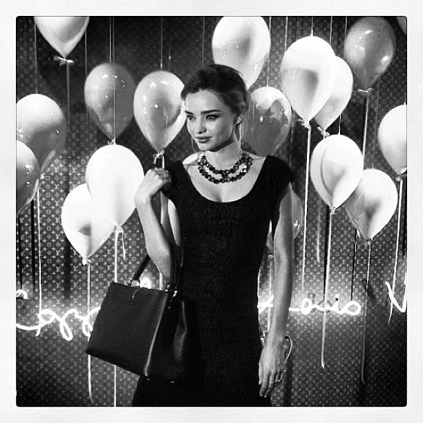 Miranda Kerr attended a Louis Vuitton party with a cute new bag. Source: Instagram user mirandakerr