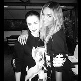Lily Collins and Ciara hugged it out at the Givenchy runway show. Source: Instagram user ciara