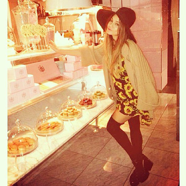 Vanessa Hudgens made a late-night snack run. Source: Instagram user vanessahudgens