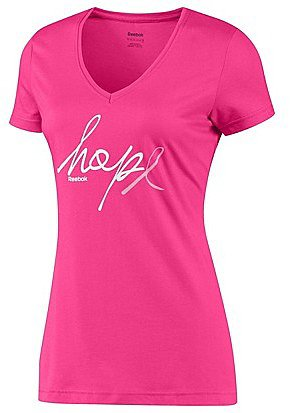 Pink Ribbon Hope Script Tee