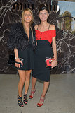 Anna Dello Russo and Giovanna Battaglia came to the end of their Fashion Week at Miu Miu's runway show.