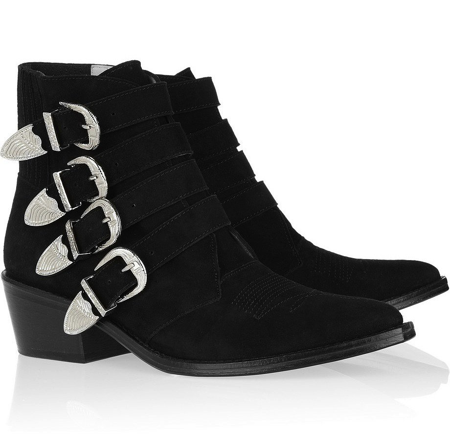 Flat Buckle Boots