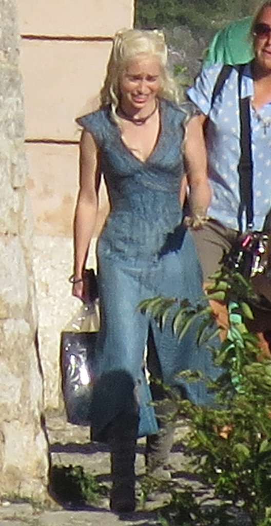 Emilia Clarke resumed her role as Daenerys Targaryen to film season four of Game of Thrones on Tuesday in Croatia.