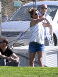 On March 15, 2013, Britney Spears hit up a golf course in LA with her boyfriend David Lucado.