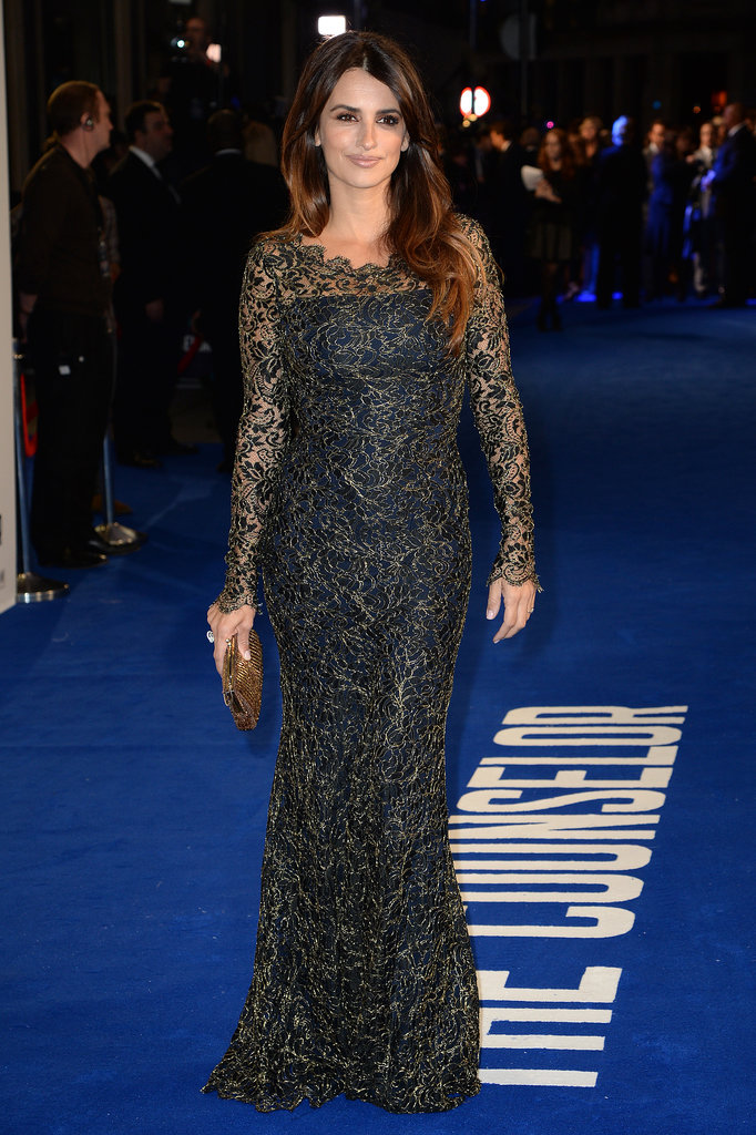 Penélope Cruz looked stunning in a Temperley London gown.