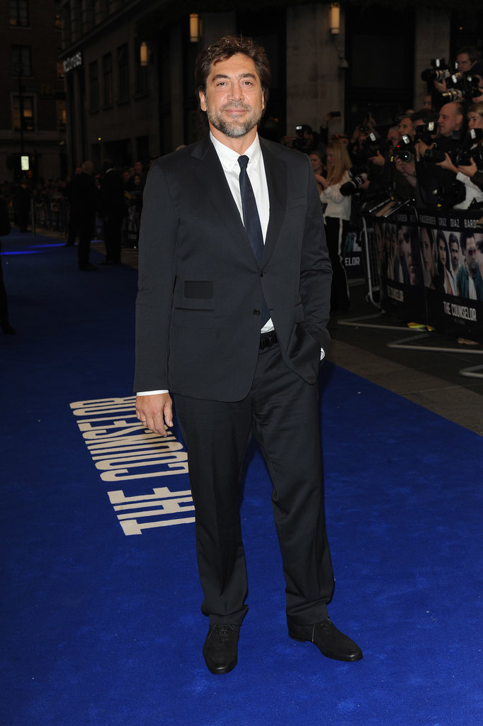 Javier Bardem walked the red carpet for the London premiere of The Counselor.