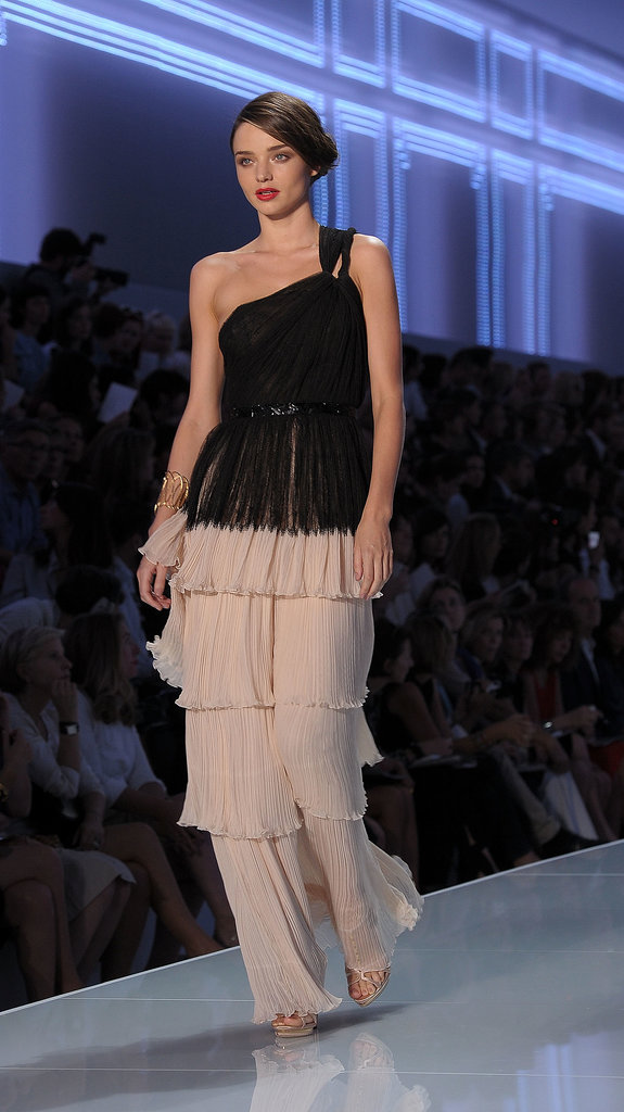 Miranda jetted to Paris to walk the Dior Spring 2012 runway, the first since John Galliano was fired from the brand.