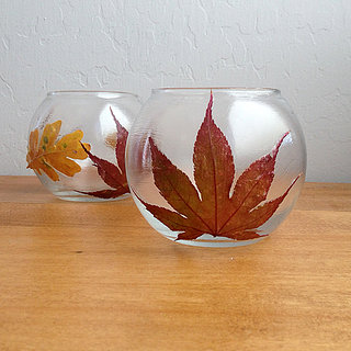 DIY Leaf Votives