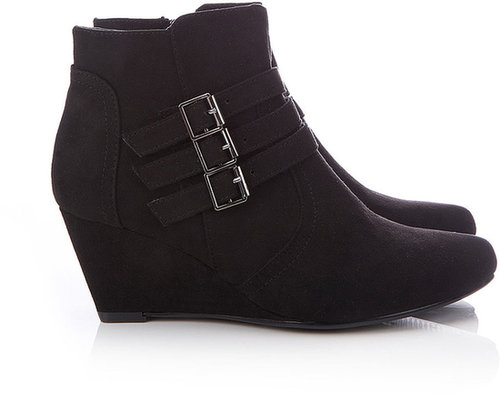 Black Wedge Ankle Boot