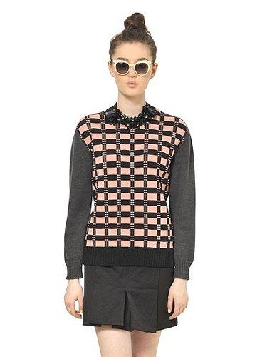 Virgin Wool Jacquard Knit Sweater