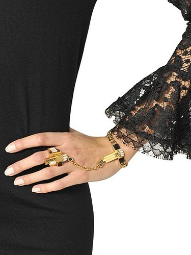 Plated Brass Bracelet With Ring