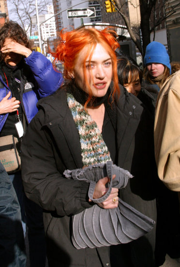 As Clementine Kruczynski in Eternal Sunshine of the Spotless Mind in 2004, Kate sported a bevy of hair colors, including this bright orange color.