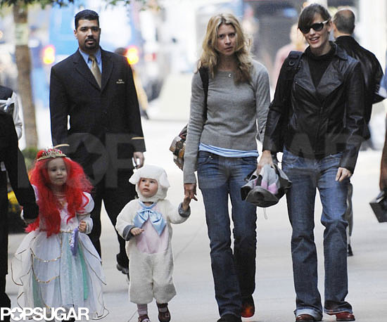 Jennifer Garner took Violet out for some Halloween fun with a friend in 2007.