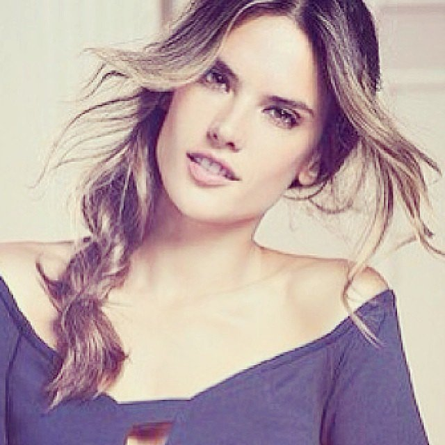 Alessandra Ambrosio sported a sexy side braid in her latest Victoria's Secret shoot. Source: Instagram user alessandraambrosio