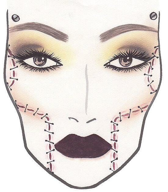 This Halloween makeup inspiration from MAC Cosmetics was rising in the ranks on Pinterest.