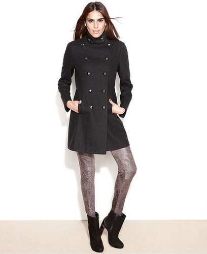 RACHEL Rachel Roy Coat, Double-Breasted Wool-Blend Military