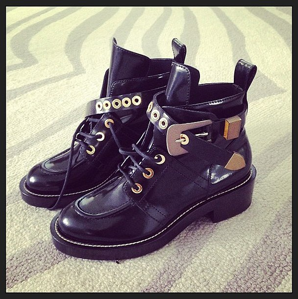 Ashley Madekwe's latest lust? Balenciaga's combat boots! Source: Instagram user smashleybell