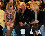 Anna Wintour with Green and Moss in the front row at Topshop Unique's Spring 2014 show. Photo courtesy of Topshop