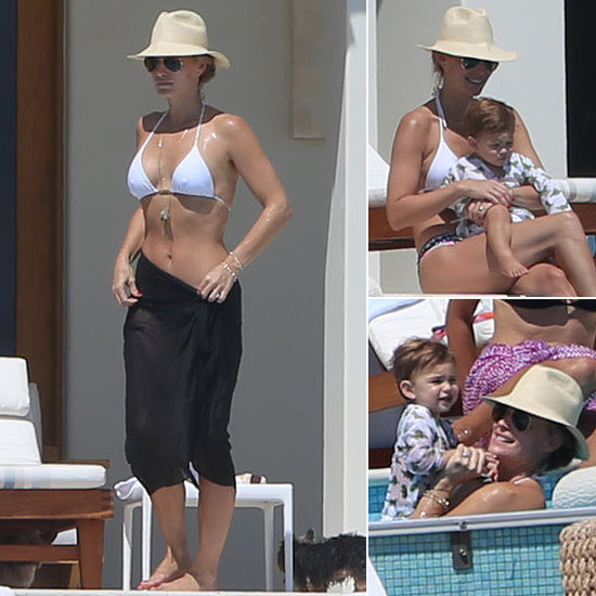 Molly Sims Makes a Splash With Her Little Swimmer, Brooks