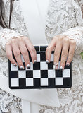 Black and white works great as gradient nail art — with or without a nail ring.