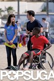 Jake Johnson and Zooey Deschanel filmed a scene with wheelchair-confined Lamorne Morris.
