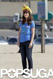 Zooey Deschanel and her hot dog hat filmed New Girl in LA.