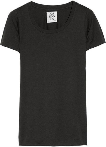Zoe Karssen Cotton and modal-blend T-shirt