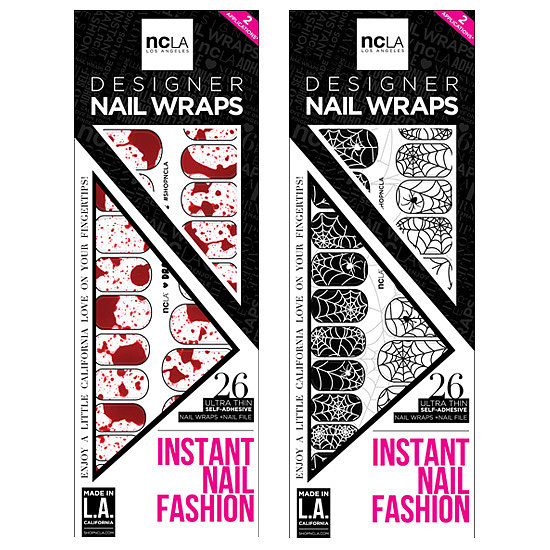 NCLA has mastered the art of nail wraps, and it's come up with two festive designs: Dracula's Bride and Web of Lies ($16 each). Just adhere to your nails and seal with a top coat.