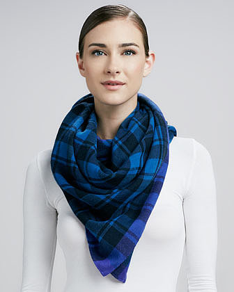 MARC by Marc Jacobs Scarlette Plaid Scarf, Dark Teal