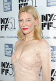 When you've got a complexion as flawless as Cate Blanchett, a swipe of red lipstick is all you really need.
