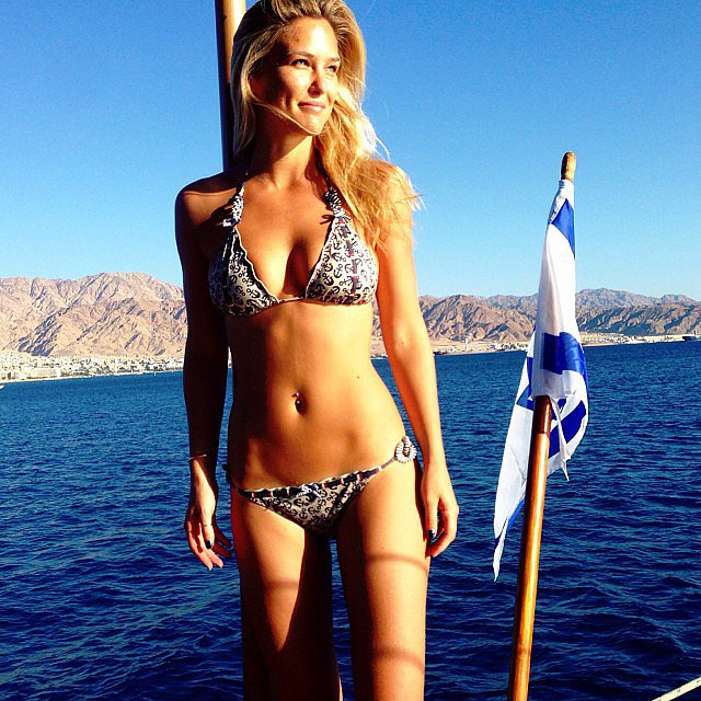 Bar Refaeli shared a bikini pic while relaxing on a boat in Israel. Source: Instagram user barrefaeli