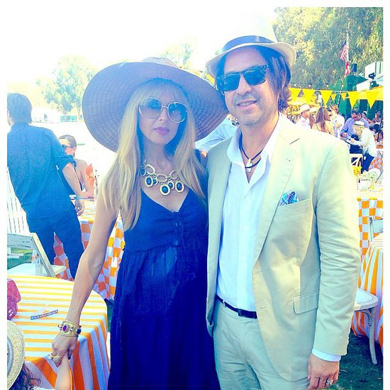 Rachel Zoe and her husband, Rodger Berman, were dressed to the nines for the Veuve Clicquot Polo match. Source: Instagram user rachelzoe