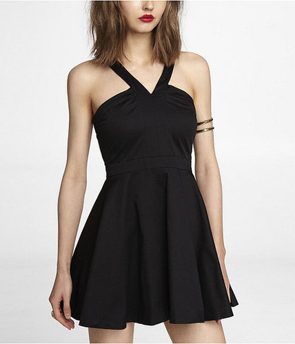 Halter Style Fit And Flare Dress