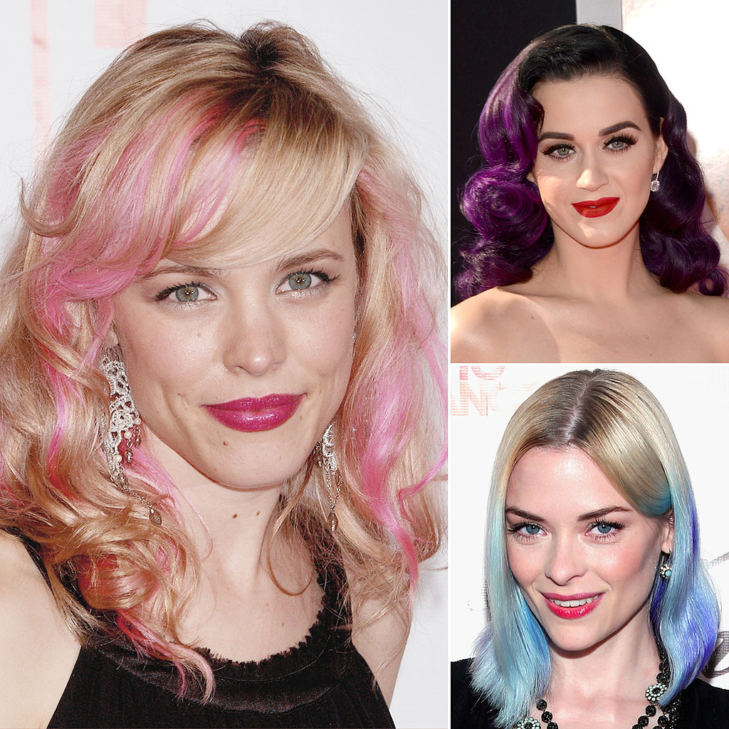 The Future's Bright: Celebrities With Coloured Streaks, Dip Dyes, and Pastel Hair