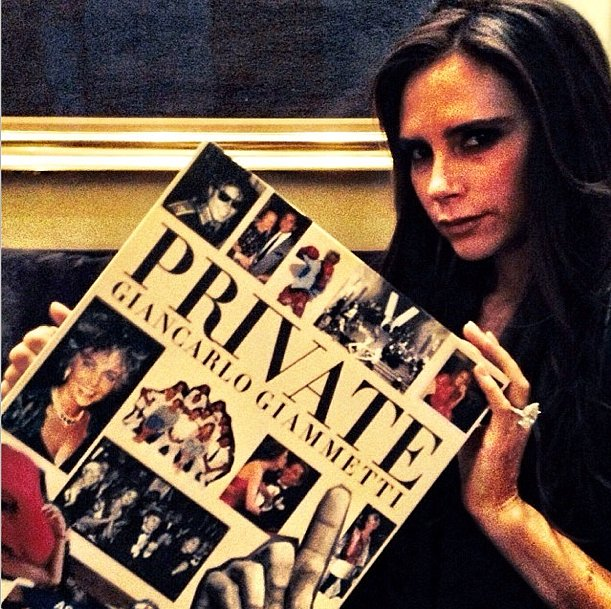 Victoria Beckham couldn't wait to get the pages of Giancarlo Giammetti's Private turning. Source: Instagram user privategg