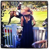 Rachel Zoe and Skyler Berman got a show at the Veuve Clicquot Polo Classic. Source: Instagram user rachelzoe