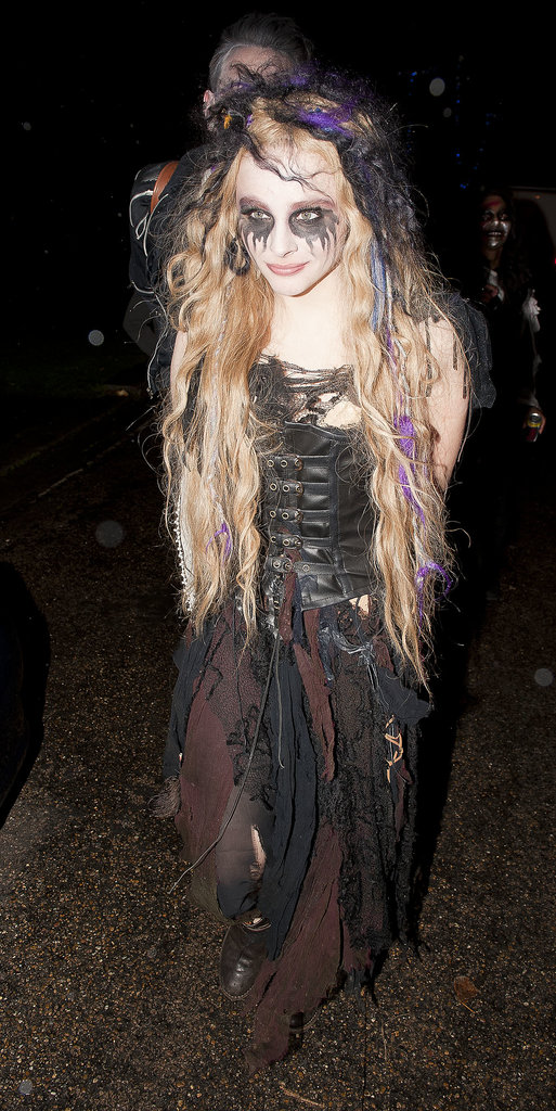 Chloë Moretz let her goth side come out in full force at the Jonathan Ross Halloween Party in 2012.