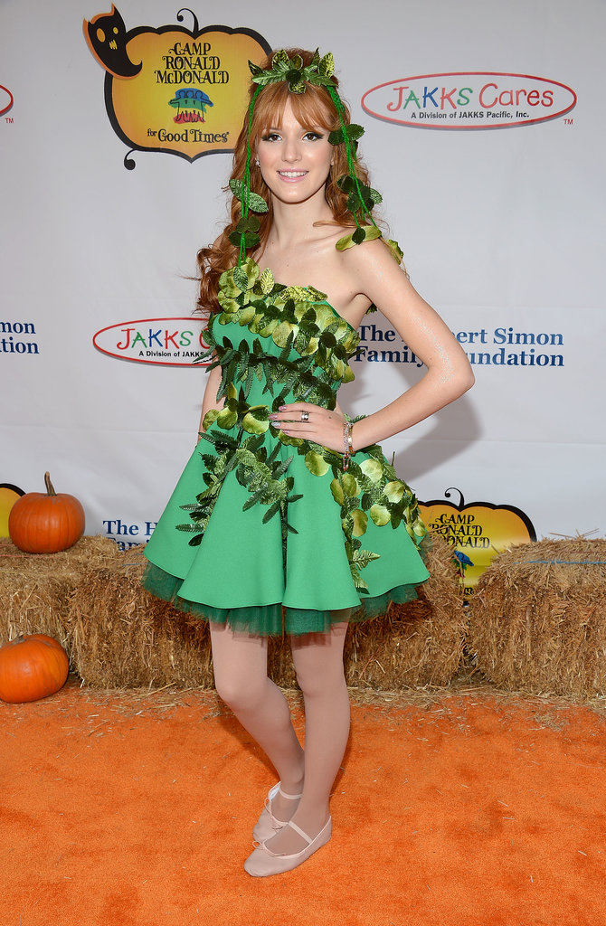 Bella Thorne attended the 2012 Camp Ronald McDonald for Good Times Halloween carnival in a mother nature-inspired costume.