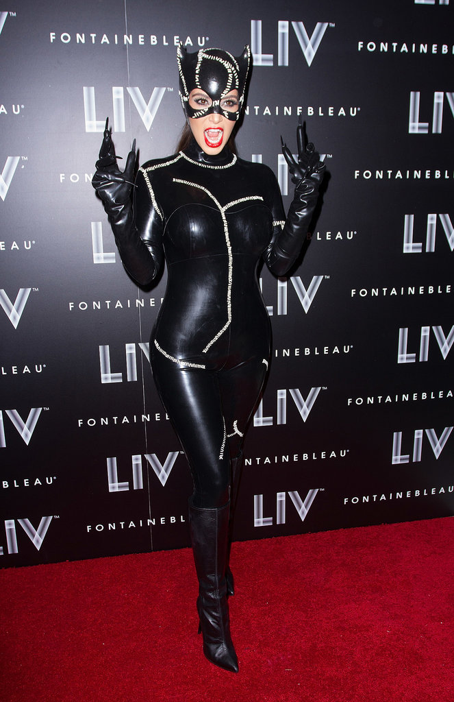 Kim Kardashian also debuted a sexy catwoman costume that same year in Miami at  party held at the LIV nightclub.