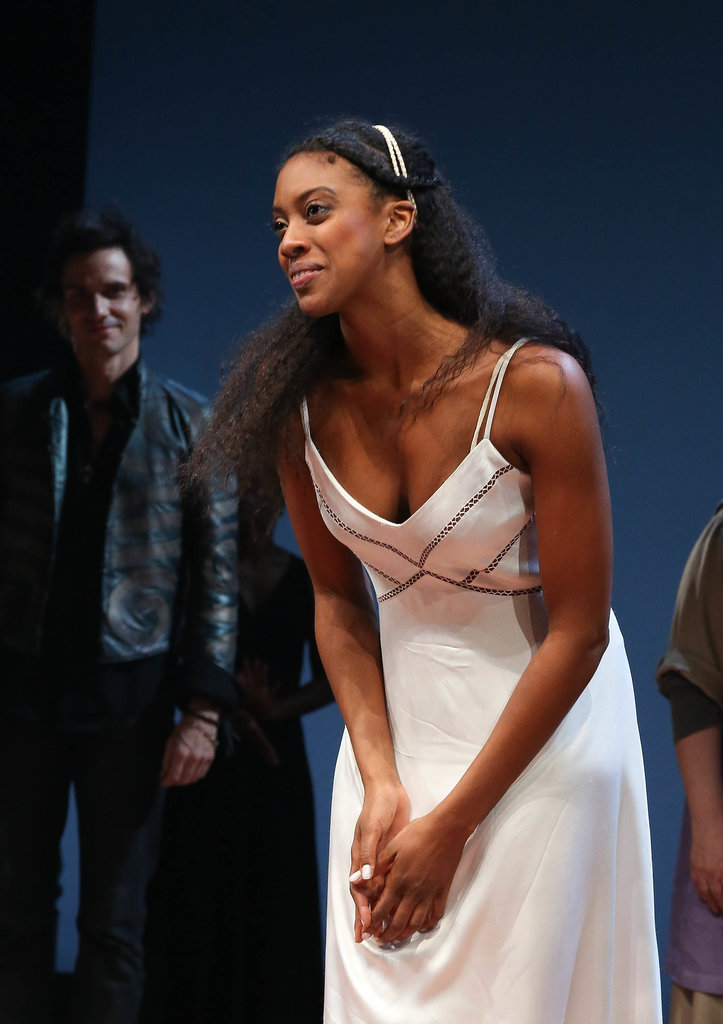 Currently, Condola Rashad is starring in the latest Broadway version of Romeo and Juliet alongside Orlando Bloom (oh, the envy). This play is done without the pomp of the film adaptations and relies on a simple and unassuming hair and makeup look.