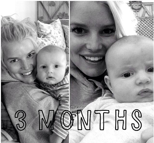 Jessica Simpson celebrated baby Ace's three-month birthday with a cute photo shoot. Source: Twitter user JessicaSimpson