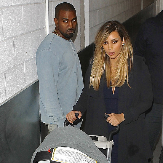 Kim Kardashian, Kanye West and North at Jimmy Kimmel Live