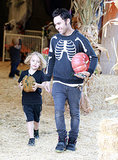 Pete Wentz and Bronx went to the Mr. Bones Pumpkin Patch in LA.